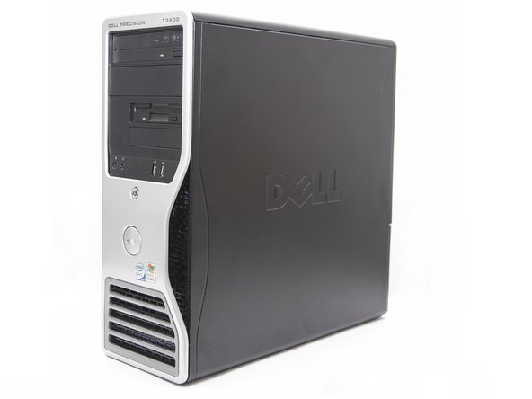 Removing the Dell Precision T3400 Side Panel