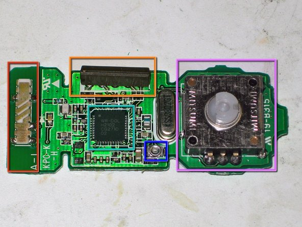 "The bottom side has all the RF circuitry -- the chip is a Nintendo chip marked ""WR-DOL / H2102 / CG2710 / 02"", presumably the radio."