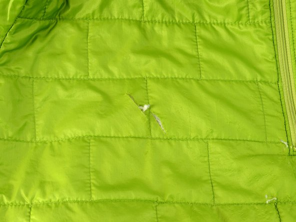 Repairing Patagonia Jacket with a Shaped Baffle