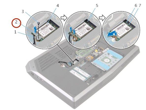 Lift the wireless-card bracket off the wireless card.