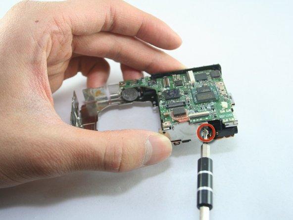 Disassembling Canon PowerShot SD1100 IS AV port and Logic board