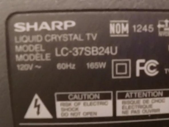 Sharp LC-37SB24U Television CCFL Replacement