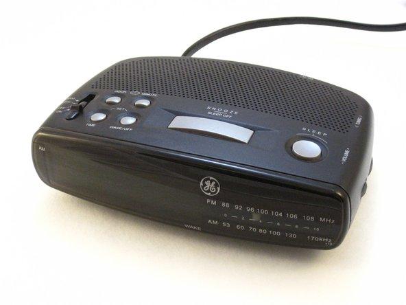 GE 7-4836B Alarm Clock AM-FM Radio Outer Case Replacement