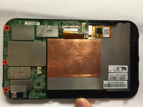 Toshiba Excite 7 Front Facing Camera Replacement