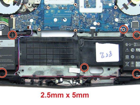 Remove the six 2.5mm x 5mm screws.