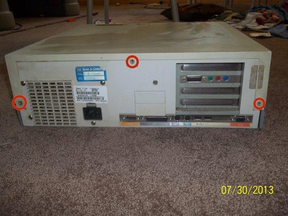 Packard Bell 4X4 Desktop Top Cover Removal