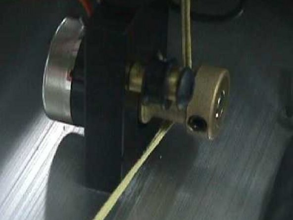 Rotate the brass pot pulley to full the counter-clockwise position.