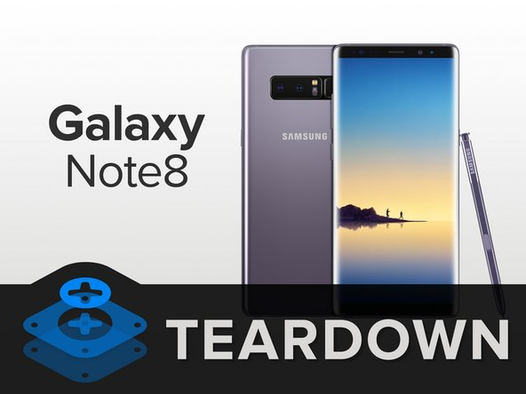 The Note8 is a tall phone. Let's see what occupies all that space: