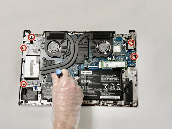Using the Phillips #000 screwdriver, remove the five screws.