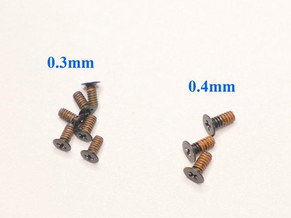 Arrange your screws properly.
