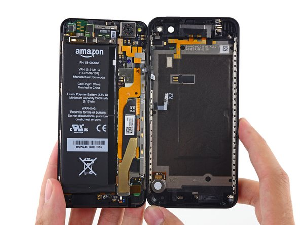 Here it is folks, an exclusive look inside at the innards of the Amazon Fire Phone.