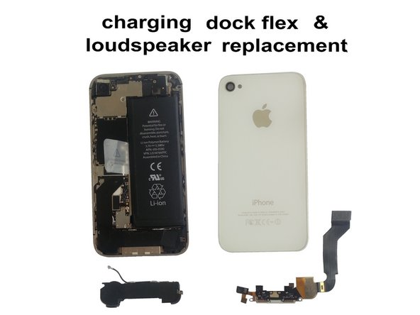 iPhone 4S - Charging Dock Connector & Loud Speaker and WiFi Antenna Replacement
