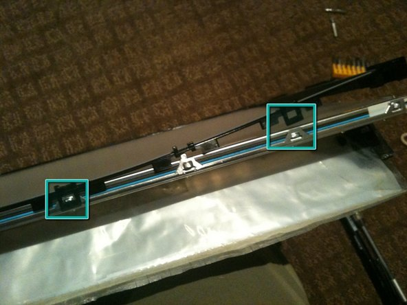 Separate the black plastic surround from the aluminum back plate to access the CCFL tube assemblies