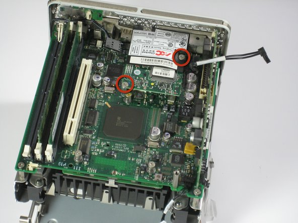 Remove the two screws from the modem.