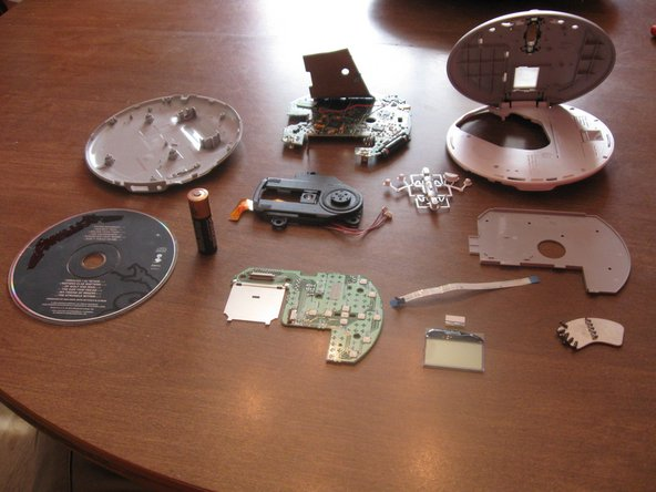 You're done! You have taken this CD player apart and broken it down into its individual components. Now to put it back together.