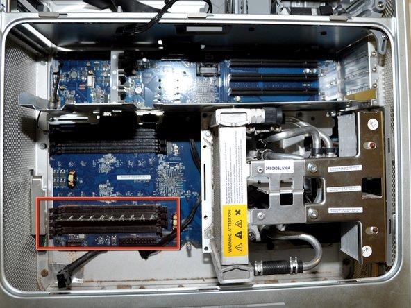 Locate the RAM on the Power Mac G5.