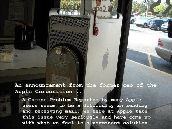 How to build a Mailbox out of an old Apple G5 Mac Pro tower