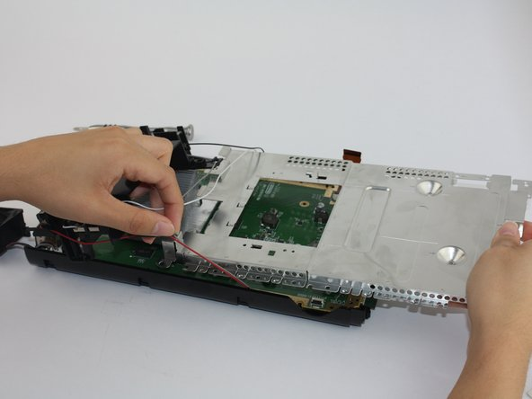 Using a Phillips #1 unscrew all floor screws connecting the outer plate from the circuit board to remove the circuit board.
