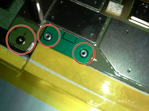 Remove the screws attached to the circuit board on the battery using a Phillips 00 screw head and remove  the battery.