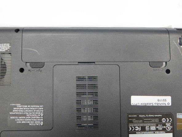 Toshiba Satellite L855-S5119 Battery Removal