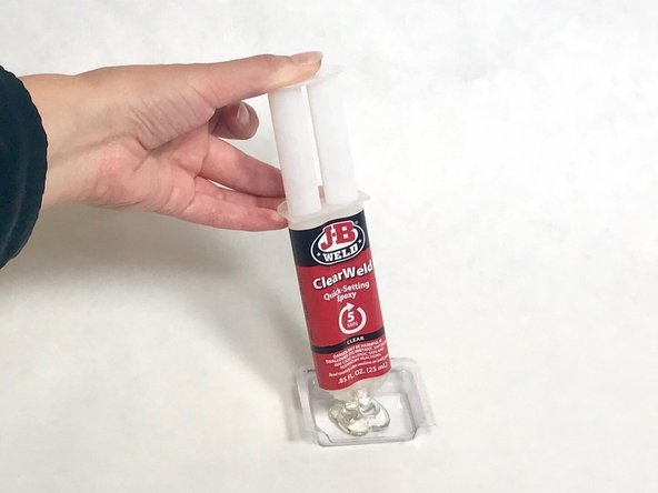 Pour epoxy into a smooth-surfaced container.