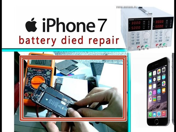 How to repair dead battery in an iPhone 7