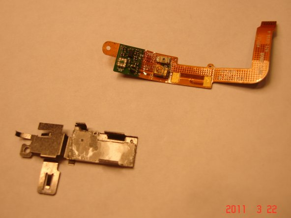 Peel the old ribbon from the bracket, note the orientation.