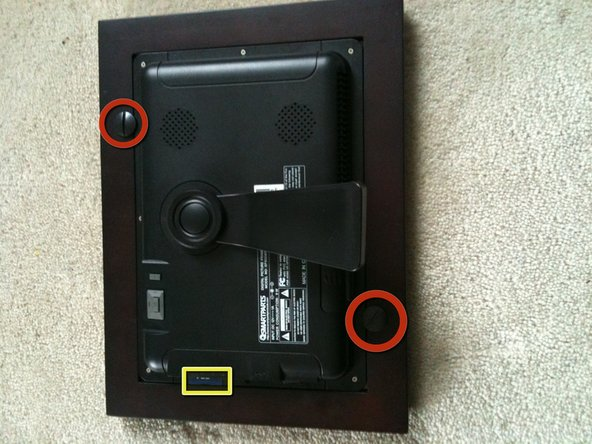 Remove the peg screws holding the electronic photo unit to the display.