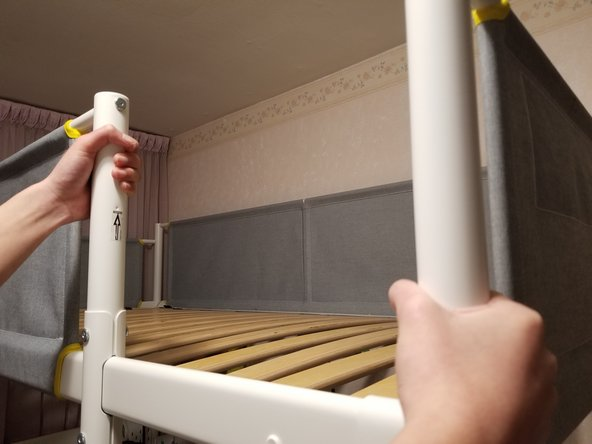 Shake the bed frame from side by side to pinpoint the area of noise.