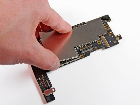 Remove the EMI shield from the logic board, and presto!