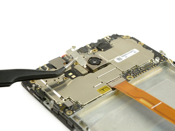 Remove the bracket from the rear camera flex cable.