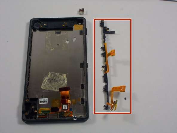 Once the Front camera gets removed, the volume button, power button, and components of the front camera will easily come off with a gently pry.