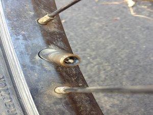 Disassembling Trek 820 Tire Removal from Wheel