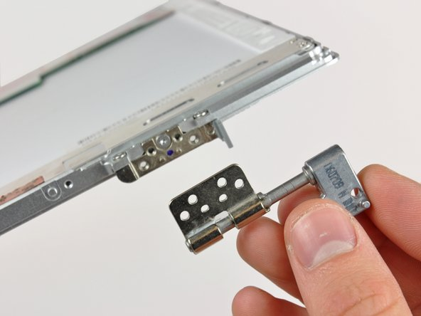 Remove the left clutch hinge from the front display bezel.