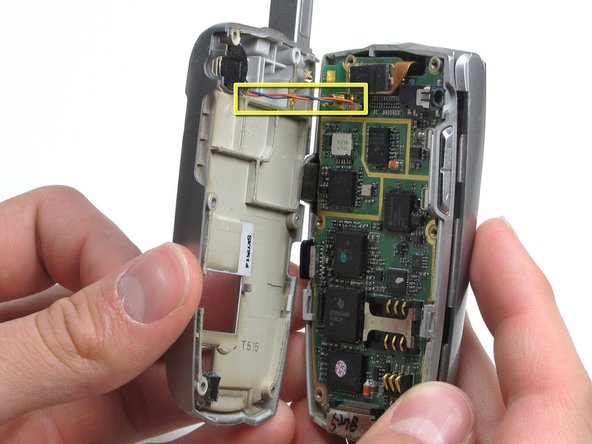 Separate the back housing from the phone.