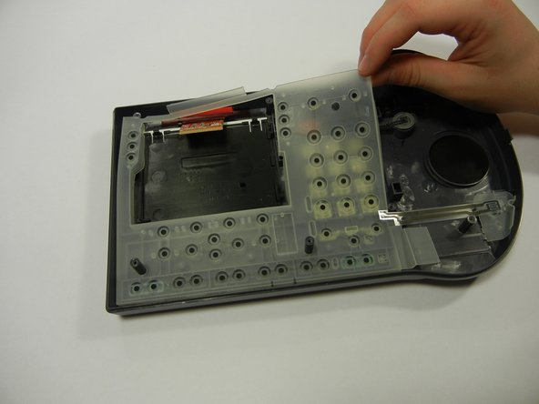 Remove the clear rubber casing.