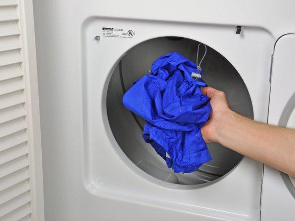 Trocknen Sie Ihre wasserdichte Jacke