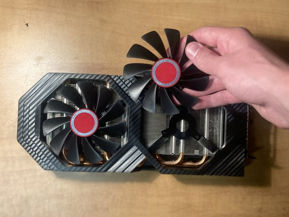 Remove the fans by applying backpressure.