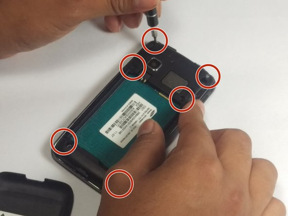 Remove the (6) 4mm screws using a Phillips #00 screwdriver.