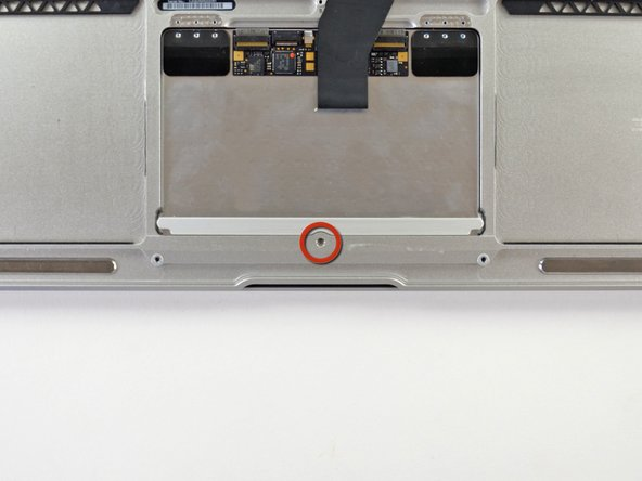 During reassembly, check the clicking action on the trackpad.