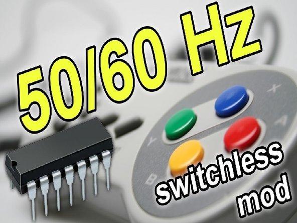 Super Nintendo 50/60 Hz Switchless Mod + LED Mod