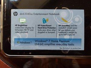 Dismantling HP Pavilion dv4-2040us laptop