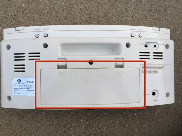 Remove back battery panels. There are two: the main panel, and the smaller back up panel behind the main.