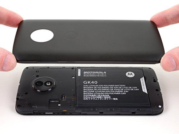 Motorola Moto E5 Play Back Cover Replacement