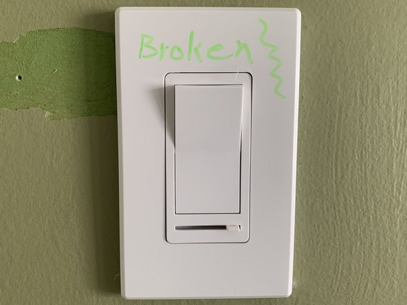Screwless Light Switch Wall Plate Replacement
