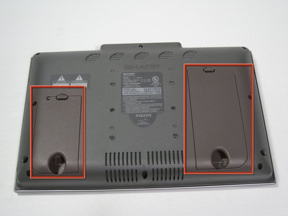 Remove the two back panels by prying them out with your hands.
