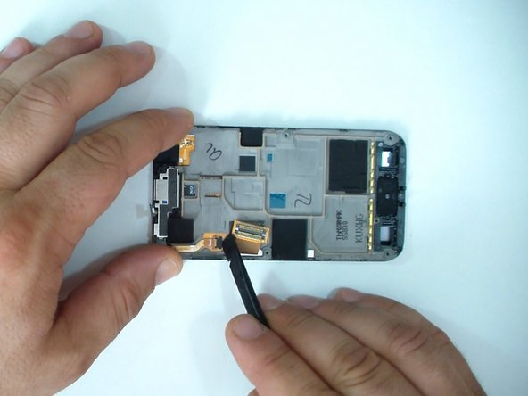 Disconnect the touch screen flex cable.