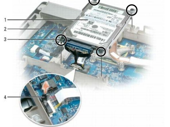 XPS M2010 MXP061 Hard Drive Replacement