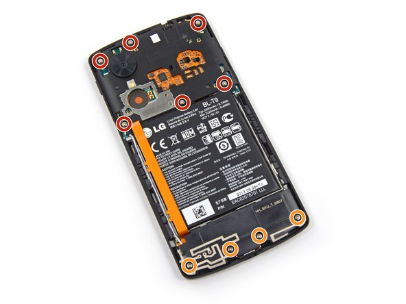 Remove the six 4.0 mm Phillips #00  screws that secure the midframe to the phone.