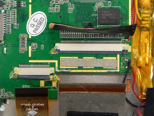Disassembling Arnova 7K G3 Logic Board Ribbon Connectors
